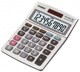 Casio MS-100 MS - anzeigender Tischrechner - 10-stelliges LCD - TAX - Metallgehäuse - Währung